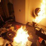 Zum Schluss legen die Täter im Tresorraum Feuer.