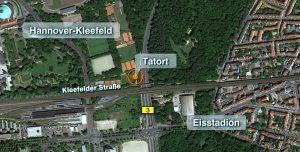 Der Tatort liegt in Hannover-Kleefeld