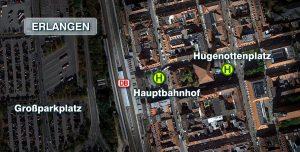 Luftbild des Hauptbahnhofs