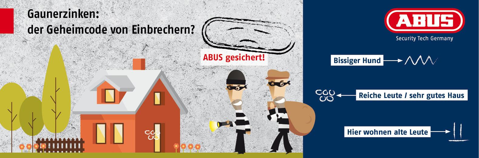 Webbanner ABUS Gaunerzinken