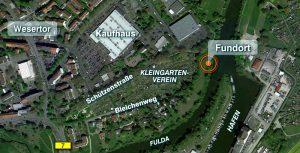 Lage des Fundorts in Kassel