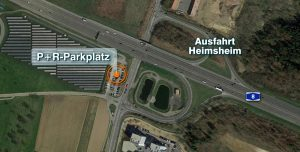 Parkplatz bei Heimsheim. Hier wurden die Kennzeichen gestohlen.