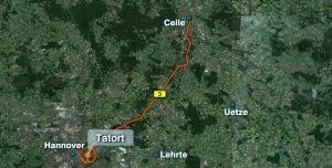 Die Männer sind von Celle nach Hannover gefahren